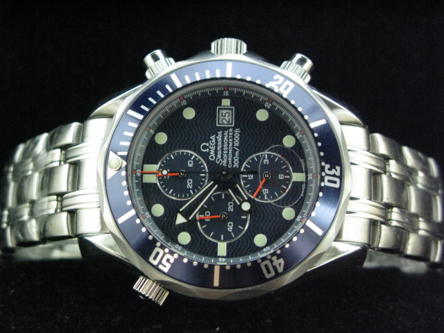 OMEGA SEAmaste r PROFESSIONAL ch rONO BLUE BEZEL SS