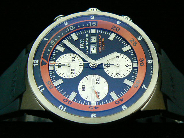 IWC COUSTEAU DIVERS 2007 LTD EDT 7750 28800bph ORANGE T