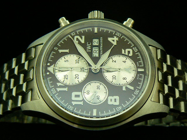 IWC SPITFIRE ST EXUPERY ch rONO 7750 28800bph BROWN SS