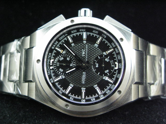 IWC INGENIEUR ch rONO SS DOUBLE AR A-7750 BLACK DIAL
