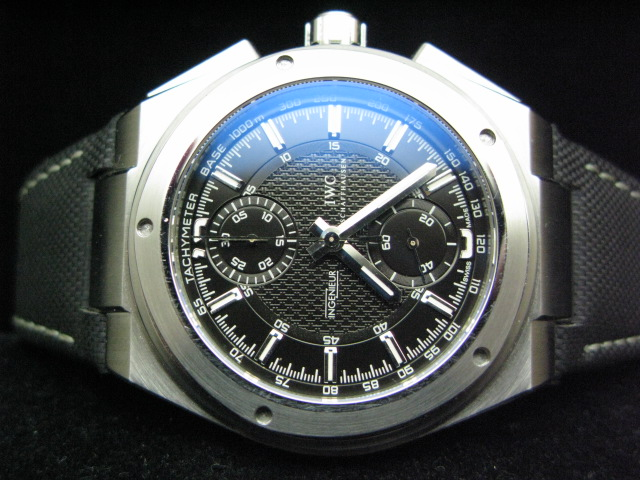 IWC INGENEUR ch rONO LEATHER DOUBLE AR A-7750