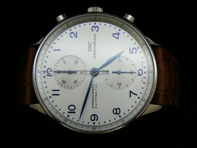 IWC PORTUGUESE ch rONO ASIA 7750 WHITE / BLUE