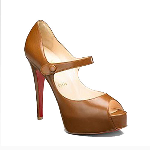 ch ristian Louboutin Pumps No Barre Mary Jane Peep Toe