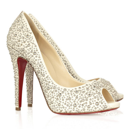 ch ristian Louboutin Pumps Studio 120 Studded Peep A