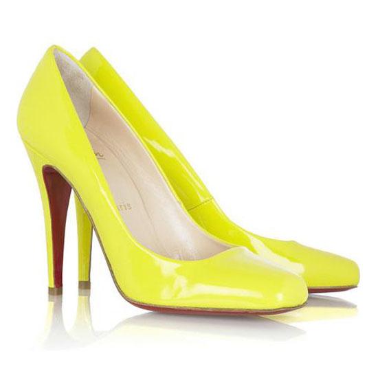ch ristian Louboutin Pumps Decollete 100 Yellow