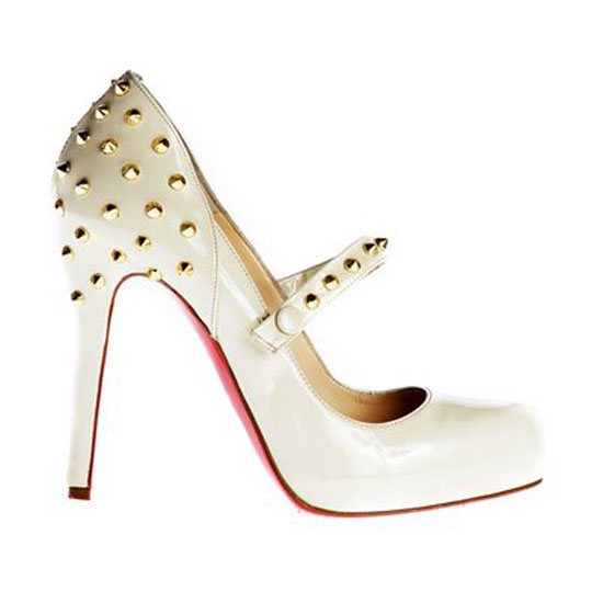 ch ristian Louboutin Pumps Mad Mary Janes Sheepskin Whit