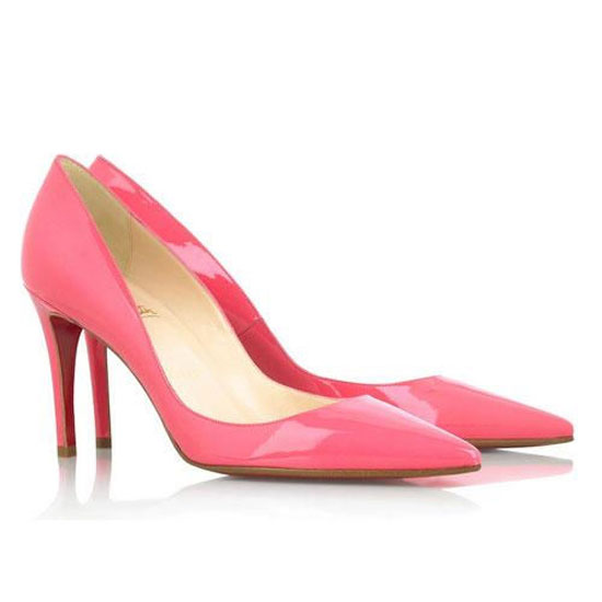 ch ristian Louboutin New 85 Pointed Pumps Pink