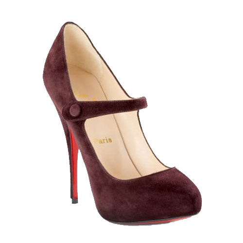 ch ristian Louboutin Pumps Decocolico Mary Jane Suede