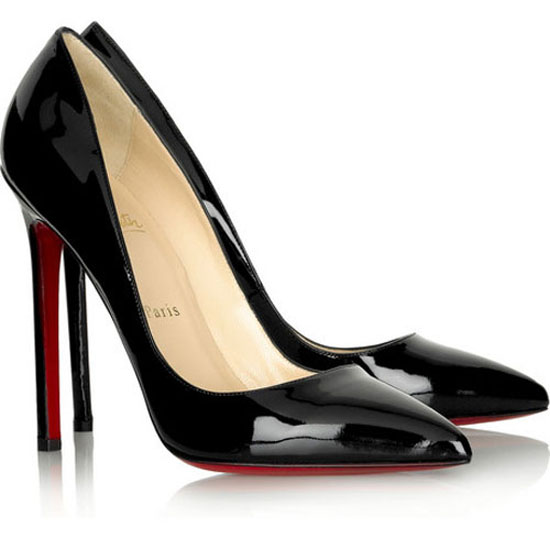ch ristian Louboutin Pigalle 120 Patent Leather Pumps Bl