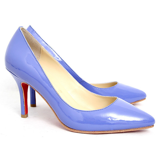 ch ristian Louboutin Pumps Patent Leather Blue