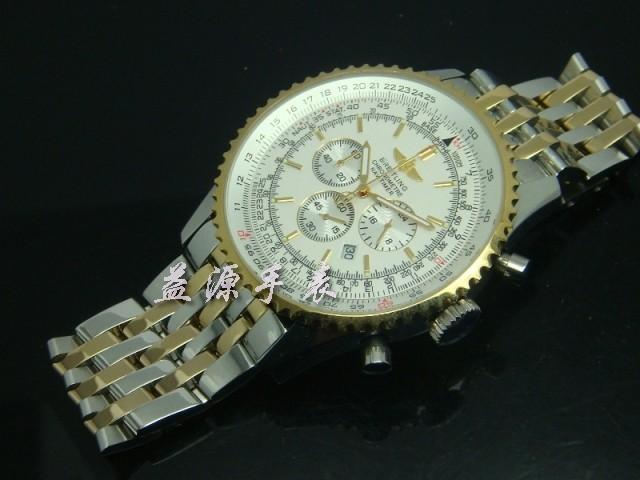Breitling Watch  00417 Men's All-steel Wristwatches