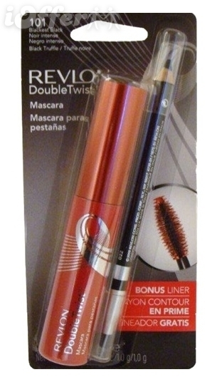 3 Revlon Double Twist Mascara 001 Blackest Bonus Liner