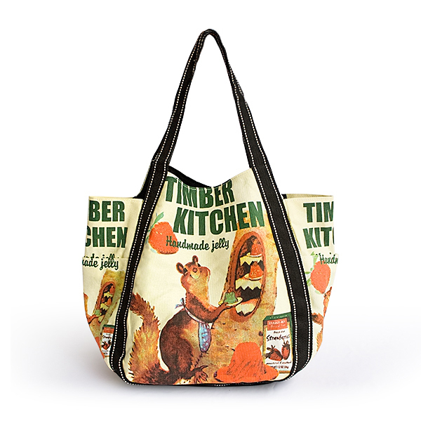 Timber Kitchen 100% Cotton Eco Canvas Shoulder Tote Bag