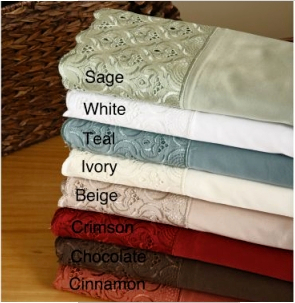 Lace Medallion 400 Thread Count Cotton Sheet Set *NEW*