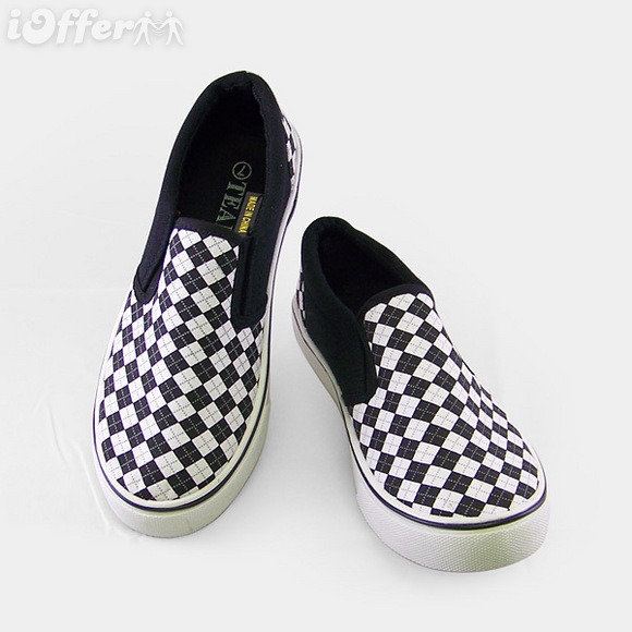 Shepherd Checkered Fabric Casual Shoes
