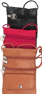 Soft Leather Passport/Wallet on String 6 colors