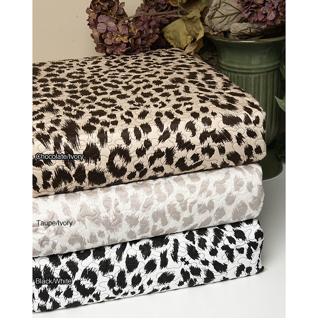 Animal Print Cheetah 300 Thread Count Cotton Quilt Set