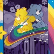Disney Licensed TWIN Size Blanket CARE BEARS *New*