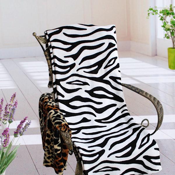 Animal ZEBRA Print Fleece Throw Blanket 59 x 78