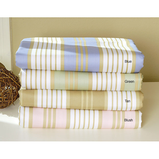 Cabana 400 Thread Count Printed Stripe 6pc Sheet Set