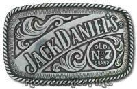 Licensed Jack Daniels Old No.7 Pewter Belt Buckle