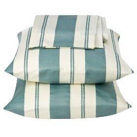 Light Havana Stripe 300 Thread Count Pillow Case Set 2
