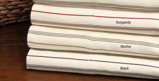 Maxine Stripe 300 Thread Count Cotton Pillowcase Set 2
