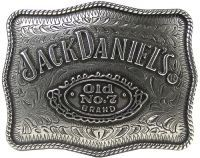 Licensed Jack Daniels No. 7 Pewter Belt Buckle