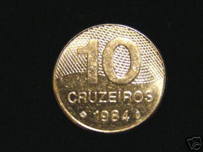 Brasil Brazil 10 Cruzeiros 1984