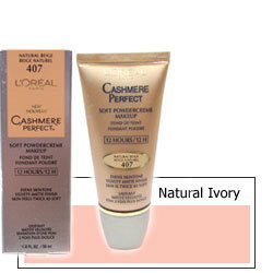 Loreal Cashmere Perfect Makeup Natural Ivory 404