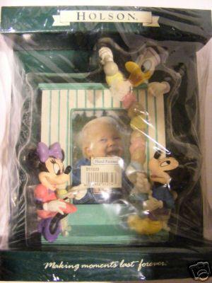 HOLSON Disney Hand Painted Frame Mickey Minnie Donald