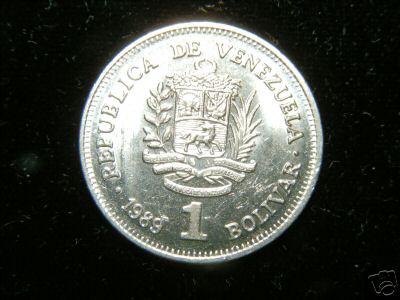 Republica de Venezuela Un 1 Bolivar 1989
