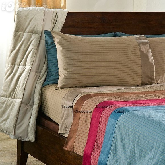 Hamptons 300 Thread Count Printed Stripe Sheet Set