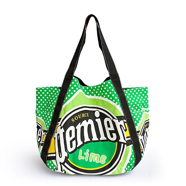 Lime Pemier 100% Cotton Eco Canvas Shoulder Tote Bag