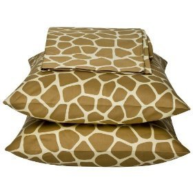 Giraffe Print 300TC 100% Cotton Pillow Case Set of 2