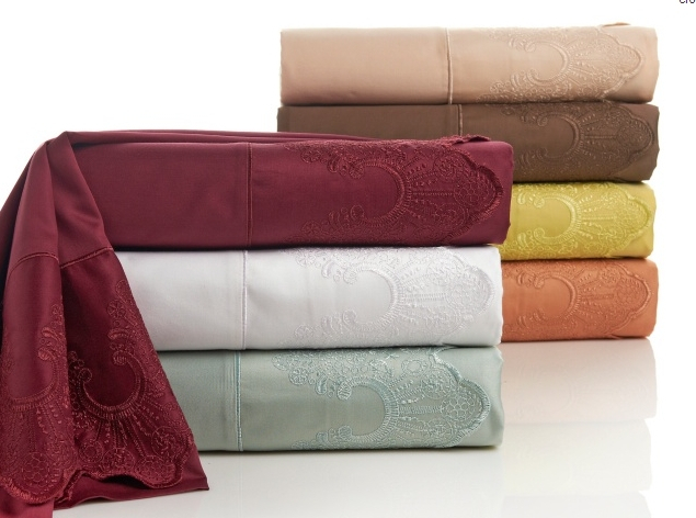 Manor Champlain Lace 400 Thread Count Sheet Set