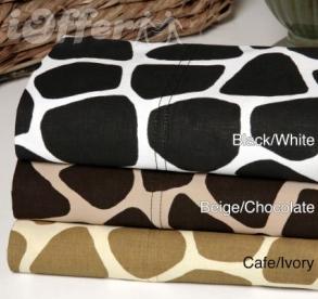 Regal Animal 300TC Cotton Giraffe 4-piece Sheet Set