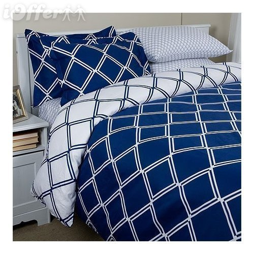 Lattice 300TC Single Ply Cotton Duvet Set