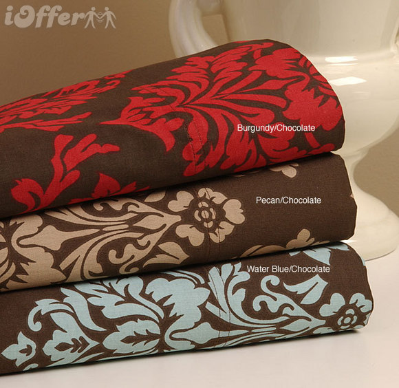 Dark Havana Floral 300 Thread Count Pillow Cases Set 2