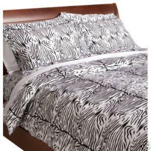 Zebra Print 300 Thread-Count 100% Cotton Duvet Set