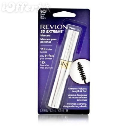 Lot of 3 Revlon 3D Extreme Mascara 602 Black