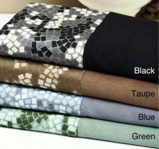 Mosaico Printed Hem 300 Thread Count Cotton Sheet Set