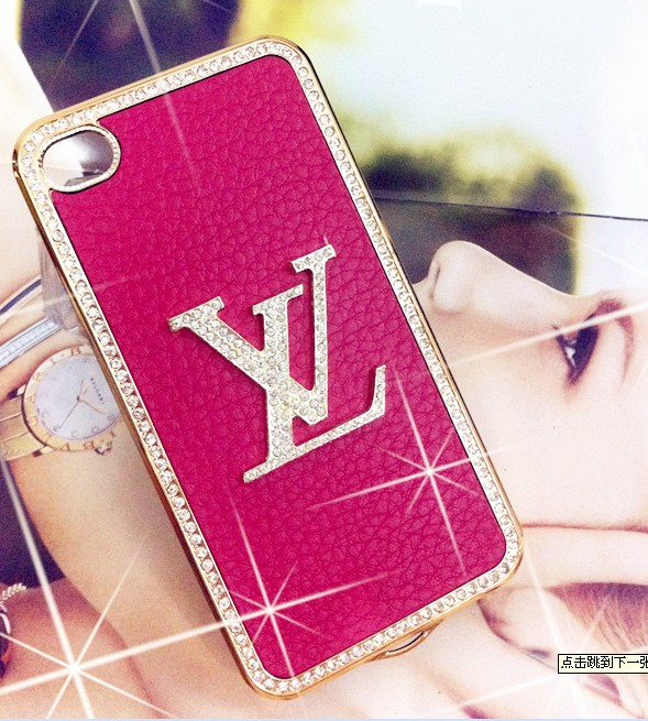 NEW LV LUXURY DIAMOND&LEATHER HARD CASE FOR IPHONE4/4S